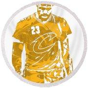 Lebron James Cleveland Cavaliers Pixel Art 21 Round Beach Towel