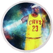 Lebron James Round Beach Towel
