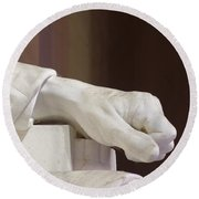 Left Hand Of Lincoln Round Beach Towel