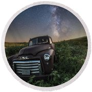 Round Beach Towel featuring the photograph Left To Rust by Aaron J Groen