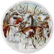 Legacy Of The Longhorn Round Beach Towel
