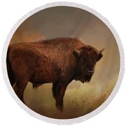 Legend Of Buffalo Spirit Round Beach Towel