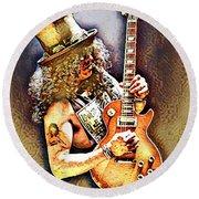 Legends Of Rock - Slash - Sweet Child Round Beach Towel