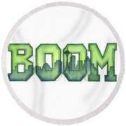 Legion Of Boom Round Beach Towel by Olga Shvartsur