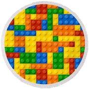Lego Bricks Round Beach Towel