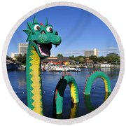 Lego Dragon Downtown Disney Round Beach Towel