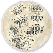 Lego Patent 1958 - Vintage Round Beach Towel by Stephen Younts