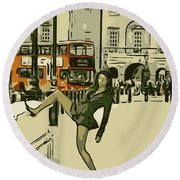 Legs Of London Round Beach Towel