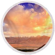 Round Beach Towel featuring the photograph Leh, Ladakh by Alexey Stiop