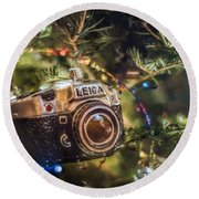 Leica Christmas Round Beach Towel