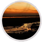 Leigh Marshes Round Beach Towel