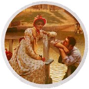 Leighton Edmund Blair Courtship Round Beach Towel
