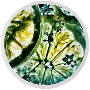 Round Beach Towel featuring the photograph Lemon And Lime by Marianna Mills