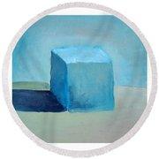 Lemon Cube Sphere Round Beach Towel by Michelle Calkins