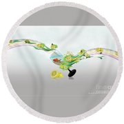 Lemon Fish Round Beach Towel
