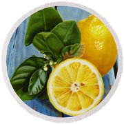 Lemon Fresh Round Beach Towel
