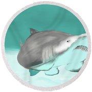Lemon Shark Round Beach Towel