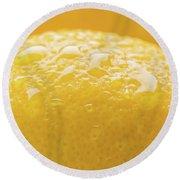 Lemon Zest Number 2 Round Beach Towel