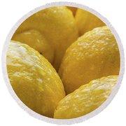 Lemons Lemons Lemons  Number 3 Round Beach Towel