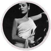 Lena Horne  Circa 1943-2015 Round Beach Towel