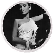 Lena Horne  Circa 1943-2015 Round Beach Towel by David Lee Guss