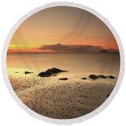 Lendalfoot Sunset Ref8962 Round Beach Towel