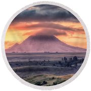 Round Beach Towel featuring the photograph Lenticular by Fiskr Larsen