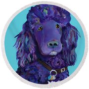 Leo Round Beach Towel