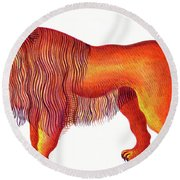 Leo The Lion Round Beach Towel by Jane Tattersfield