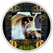 Leon Russell Rip Round Beach Towel