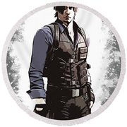 Leon S. Kennedy Round Beach Towel