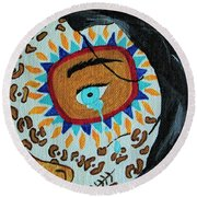 Leopard Tears Round Beach Towel