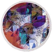 Leopards Round Beach Towel
