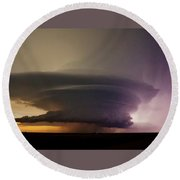 Leoti, Ks Supercell Round Beach Towel