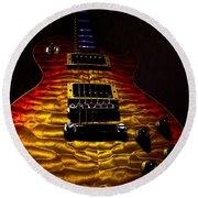 Guitar Custom Quilt Top Spotlight Series Round Beach Towel