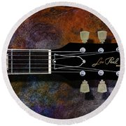 Les Paul Six Round Beach Towel