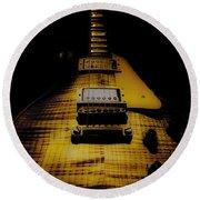 1958 Reissue Guitar Spotlight Series Round Beach Towel