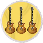 Les Paul Standard 1959 Round Beach Towel