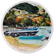 Les Saintes, French West Indies Round Beach Towel