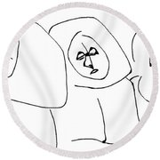 Les Soeur Sans Merci Waved Goodbye To Joy Upon The Arrival Of The New Mother Superior Round Beach Towel
