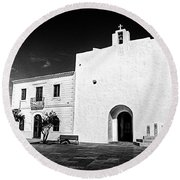 Fortified Church, Formentera Round Beach Towel