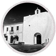 Fortified Church, Formentera Round Beach Towel