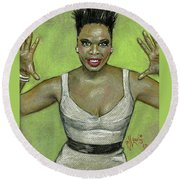 Leslie Jones Round Beach Towel