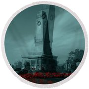 Round Beach Towel featuring the photograph Lest We Forget. by Keith Elliott