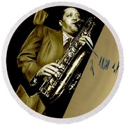 Lester Young Collection Round Beach Towel