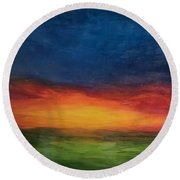 Let It Be Round Beach Towel
