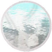 Let It Flow Round Beach Towel
