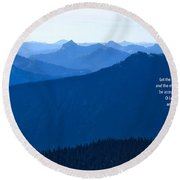 Round Beach Towel featuring the photograph Let My Words by Lynn Hopwood