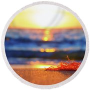 Let The Sunshine In Round Beach Towel by Iryna Goodall