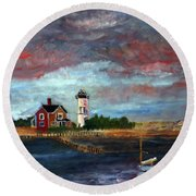 Let There Be Light Round Beach Towel